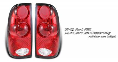 Headlights & Tail Lights - Tail Lights - OptionRacing - Ford F250 Option Racing Altezza Taillight - 21-18143