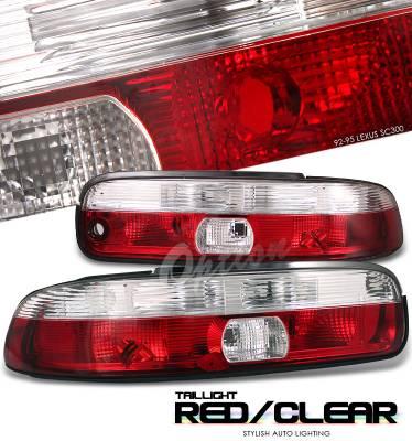 Headlights & Tail Lights - Tail Lights - OptionRacing - Lexus SC Option Racing Taillight - 21-29159