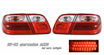 Headlights & Tail Lights - Tail Lights - OptionRacing - Mercedes-Benz E Class Option Racing LED Taillight - 21-32173