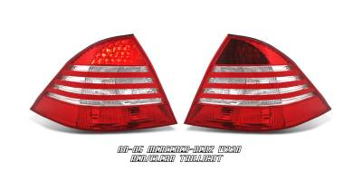 Headlights & Tail Lights - Tail Lights - OptionRacing - Mercedes-Benz S Class Option Racing LED Taillight - 21-32175
