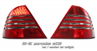 Headlights & Tail Lights - Tail Lights - OptionRacing - Mercedes-Benz S Class Option Racing LED Taillight - 21-32176