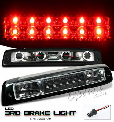 Headlights & Tail Lights - Third Brake Lights - OptionRacing - Dodge Ram Option Racing LED Third Brake Light - Black - 23-17176
