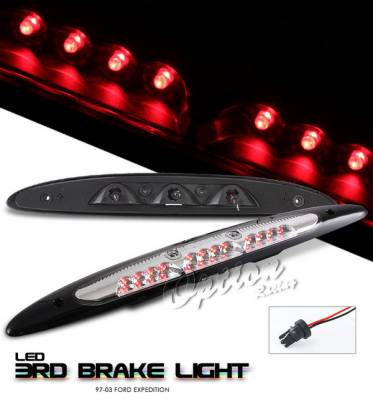 Headlights & Tail Lights - Third Brake Lights - OptionRacing - Ford Expedition Option Racing LED Third Brake Light - Chrome - 23-18173