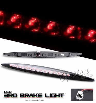 Headlights & Tail Lights - Third Brake Lights - OptionRacing - Honda S2000 Option Racing LED Third Brake Light - Chrome - 23-20152