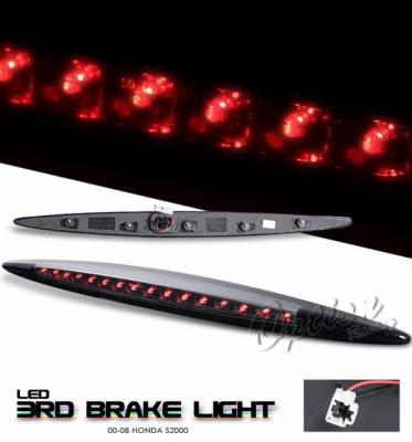 Headlights & Tail Lights - Third Brake Lights - OptionRacing - Honda S2000 Option Racing LED Third Brake Light - Black - 23-20153