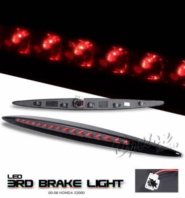 Headlights & Tail Lights - Third Brake Lights - OptionRacing - Honda S2000 Option Racing LED Third Brake Light - Smoke - 23-20154