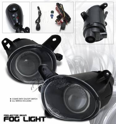 Headlights & Tail Lights - Fog Lights - OptionRacing - Volkswagen Passat Option Racing Fog Light Kit - Clear - 28-11216