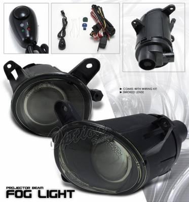 Headlights & Tail Lights - Fog Lights - OptionRacing - Volkswagen Passat Option Racing Fog Light Kit - Smoke - 28-11217