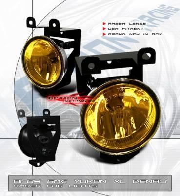 Headlights & Tail Lights - Fog Lights - OptionRacing - GMC Yukon Option Racing Fog Light Kit - Amber - 28-15110