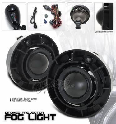Headlights & Tail Lights - Fog Lights - OptionRacing - Chevrolet Colorado Option Racing Fog Light Kit - Smoke - 28-15213