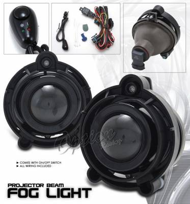 Headlights & Tail Lights - Fog Lights - OptionRacing - Chevrolet Impala Option Racing Fog Light Kit - Clear - 28-15214