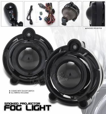 Headlights & Tail Lights - Fog Lights - OptionRacing - Chevrolet Impala Option Racing Fog Light Kit - Smoke - 28-15215