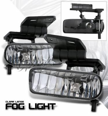 Headlights & Tail Lights - Fog Lights - OptionRacing - Chevrolet Silverado Option Racing Fog Light Kit - Clear - 28-15353