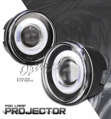 Headlights & Tail Lights - Fog Lights - OptionRacing - Jeep Grand Cherokee Option Racing Fog Light Kit - Halo Projector - 28-16255