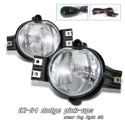 Headlights & Tail Lights - Fog Lights - OptionRacing - Dodge Ram Option Racing Fog Light Kit - 28-17115