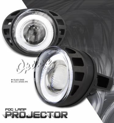 Headlights & Tail Lights - Fog Lights - OptionRacing - Dodge Caravan Option Racing Fog Light Kit - Halo Projector - 28-17232