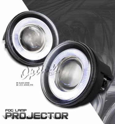 Headlights & Tail Lights - Fog Lights - OptionRacing - Dodge Dakota Option Racing Fog Light Kit - Halo Projector - 28-17233