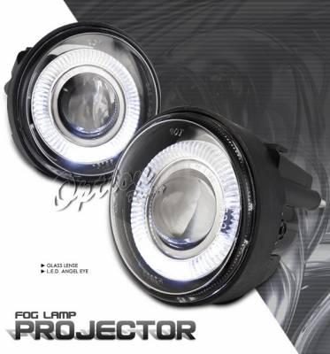 Headlights & Tail Lights - Fog Lights - OptionRacing - Dodge Neon Option Racing Fog Light Kit - Halo Projector - 28-17234