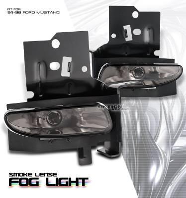 Headlights & Tail Lights - Fog Lights - OptionRacing - Ford Mustang Option Racing Fog Light Kit - 28-18120