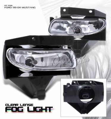 Headlights & Tail Lights - Fog Lights - OptionRacing - Ford Mustang Option Racing Fog Light Kit - Chrome - 28-18125