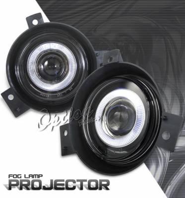 Headlights & Tail Lights - Fog Lights - OptionRacing - Ford Ranger Option Racing Fog Light Kit - Halo Projector - 28-18247