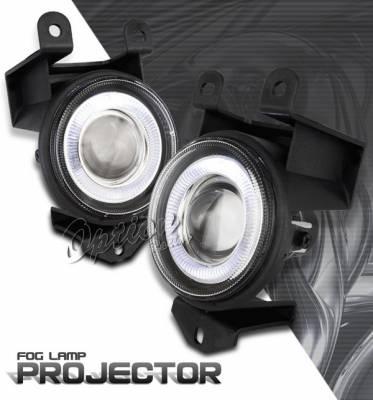 Headlights & Tail Lights - Fog Lights - OptionRacing - GMC Yukon Option Racing Fog Light Kit - Halo Projector - 28-19251