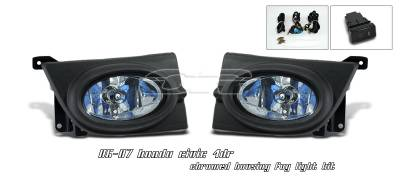 Headlights & Tail Lights - Fog Lights - OptionRacing - Honda Civic Option Racing Fog Light Kit - 28-20128