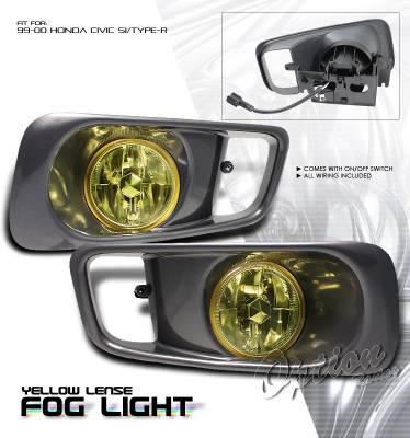 Headlights & Tail Lights - Fog Lights - OptionRacing - Honda Civic Option Racing Fog Light Kit - 28-20177