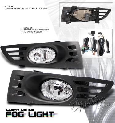 Headlights & Tail Lights - Fog Lights - OptionRacing - Honda Accord Option Racing Fog Light Kit - 28-20182