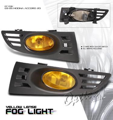 Headlights & Tail Lights - Fog Lights - OptionRacing - Honda Accord Option Racing Fog Light Kit - 28-20183