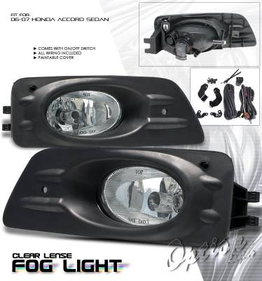 Headlights & Tail Lights - Fog Lights - OptionRacing - Honda Accord Option Racing Fog Light Kit - 28-20199