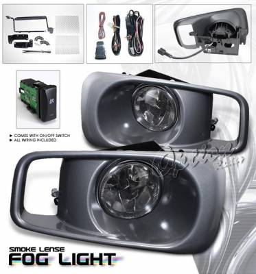 Headlights & Tail Lights - Fog Lights - OptionRacing - Honda Civic Option Racing Fog Light Kit with Wiring Kit - Smoke - 28-20222