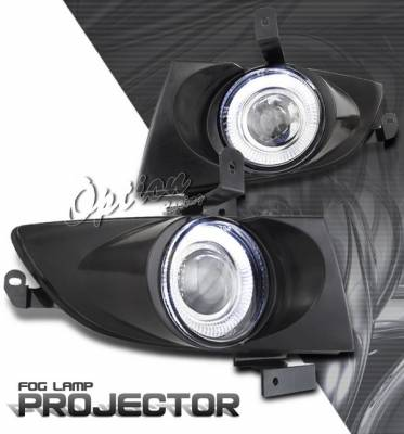 Headlights & Tail Lights - Fog Lights - OptionRacing - Hyundai Sonata Option Racing Fog Light Kit - Halo Projector - 28-22252
