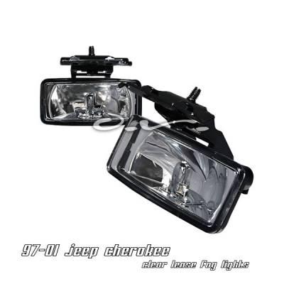 Headlights & Tail Lights - Fog Lights - OptionRacing - Jeep Cherokee Option Racing Fog Light Kit - 28-26132