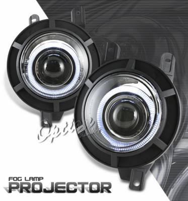 Headlights & Tail Lights - Fog Lights - OptionRacing - Lincoln Navigator Option Racing Fog Light Kit - Halo Projector - 28-30257