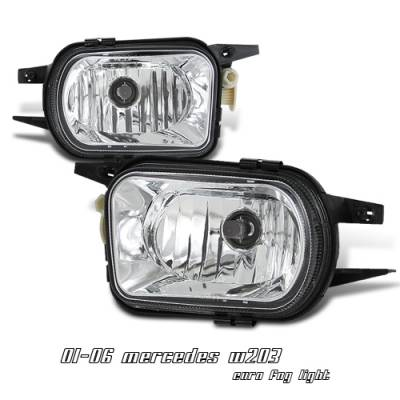 Headlights & Tail Lights - Fog Lights - OptionRacing - Mercedes-Benz C Class Option Racing Fog Light Kit - 28-32138