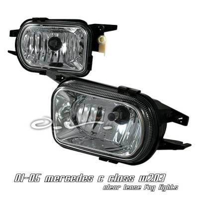 Headlights & Tail Lights - Fog Lights - OptionRacing - Mercedes-Benz C Class Option Racing Fog Light Kit - 28-32140