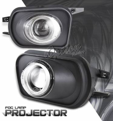 Headlights & Tail Lights - Fog Lights - OptionRacing - Mercedes-Benz C Class Option Racing Fog Light Kit - Halo Projector - 28-32259