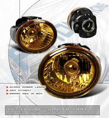 Headlights & Tail Lights - Fog Lights - OptionRacing - Nissan Altima Option Racing Fog Light Kit - Amber - 28-36150