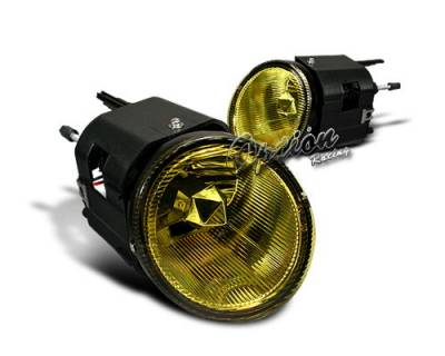Headlights & Tail Lights - Fog Lights - OptionRacing - Nissan Maxima Option Racing Fog Light Kit - Yellow Lens - 28-36155