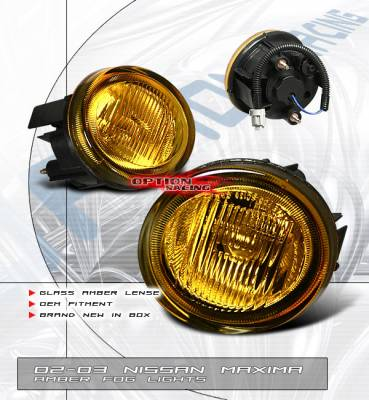 Headlights & Tail Lights - Fog Lights - OptionRacing - Nissan Maxima Option Racing Fog Light Kit - 28-36156