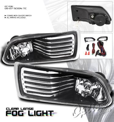 Headlights & Tail Lights - Fog Lights - OptionRacing - Scion tC Option Racing Fog Light Kit - 28-41192