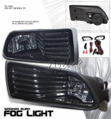 Headlights & Tail Lights - Fog Lights - OptionRacing - Scion tC Option Racing Fog Light Kit with Wiring Kit - Smoke - 28-41214