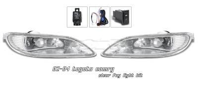 Headlights & Tail Lights - Fog Lights - OptionRacing - Toyota Camry Option Racing Fog Light Kit - 28-44159