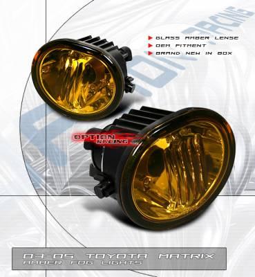 Headlights & Tail Lights - Fog Lights - OptionRacing - Toyota Matrix Option Racing Fog Light Kit - 28-44161