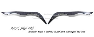 Headlights & Tail Lights - Headlight Covers - OptionRacing - BMW 3 Series Option Racing Headlight Eyelids - 49-12106