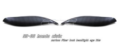 Headlights & Tail Lights - Headlight Covers - OptionRacing - Honda Civic Option Racing Headlight Eyelids - 49-20113