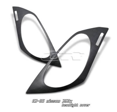 Headlights & Tail Lights - Headlight Covers - OptionRacing - Nissan 350Z Option Racing Headlight Eyelids - 49-36119