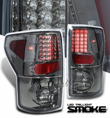 Headlights & Tail Lights - Led Tail Lights - OptionRacing - Toyota Tundra Option Racing LED Taillights - Smoke - 74-44103