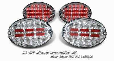 Headlights & Tail Lights - Tail Lights - OptionRacing - Chevrolet Corvette Option Racing LED Taillight - 75-15128
